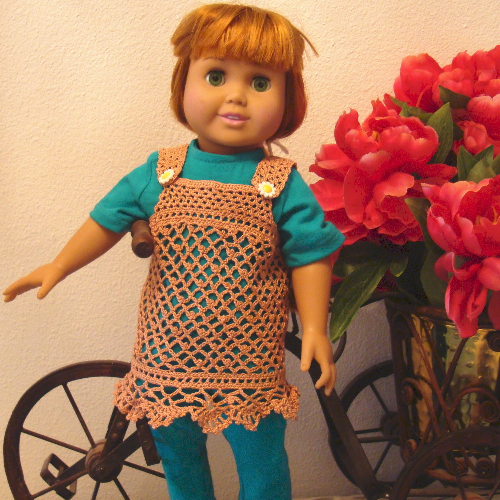 Crochet Dress Up Doll Pattern : Crochet pattern for 18 inch dolls-lace dress - Other