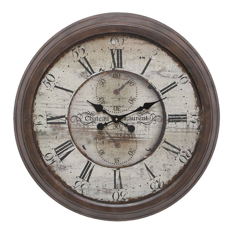 metal wall clock large vintage rustic stylish for living room kitchen bedroom wall clocks