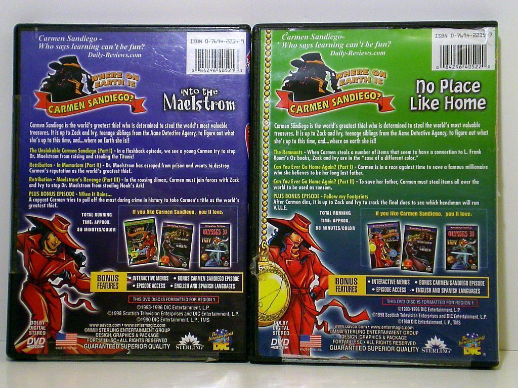 Image 1 of Where on Earth is Carmen Sandiego? 2 DVDs Animation Station