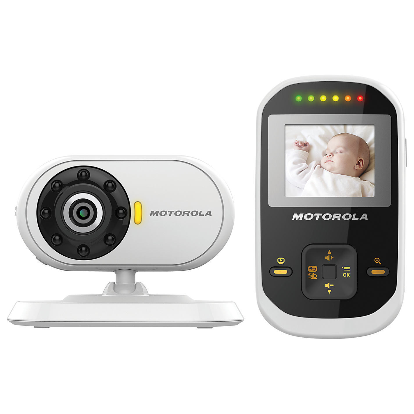 motorola mbp18 1 8 lcd video baby monitor night vision led sound indicator surveillance. Black Bedroom Furniture Sets. Home Design Ideas