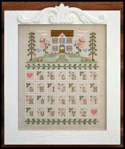 cottage alphabet cross stitch chart country cottage