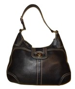COACH  HAMILTON ~ Pebbled Milled Black Leather Shoulder H... - £50.91 GBP