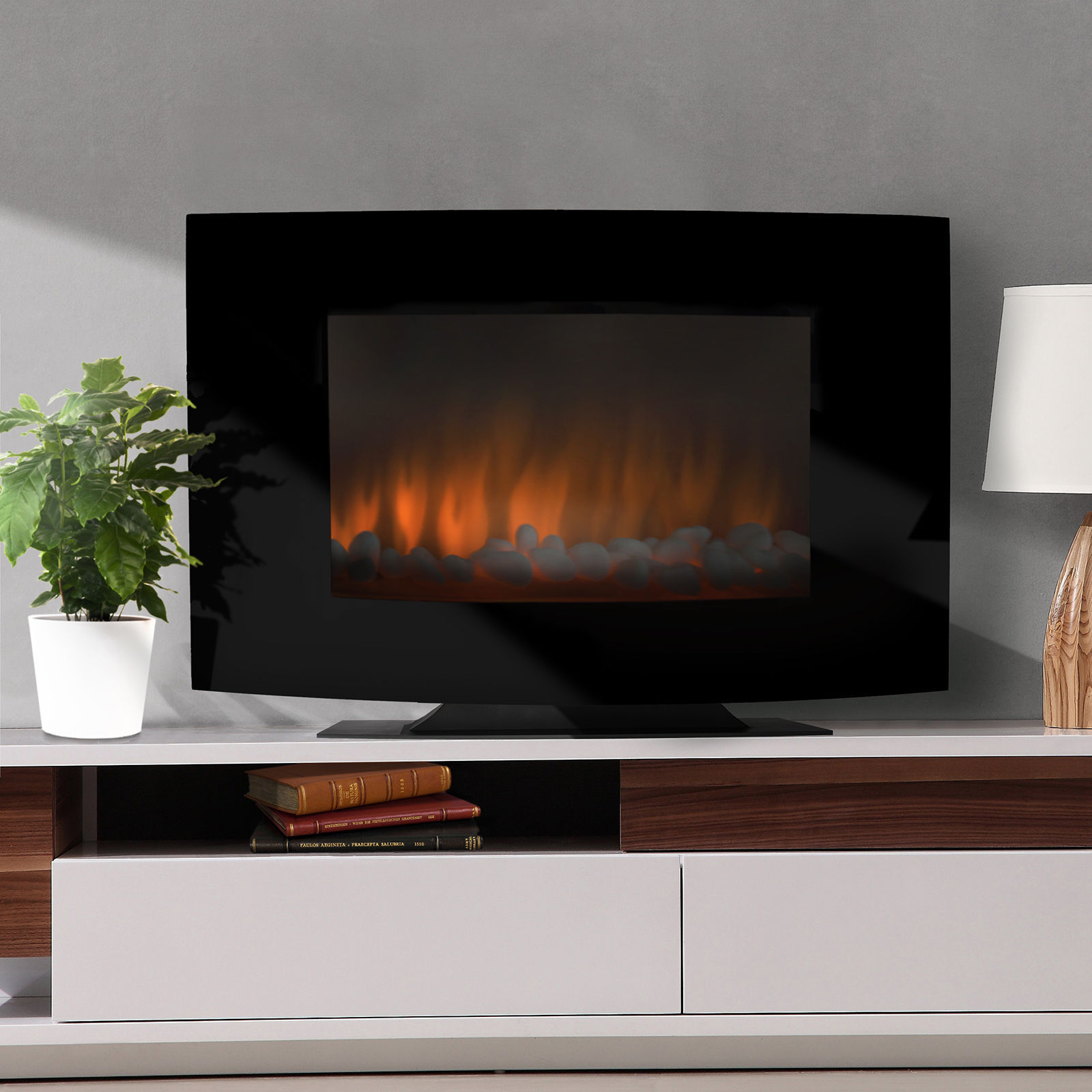 fireplace heater large 1500w heat adjustable electric wall