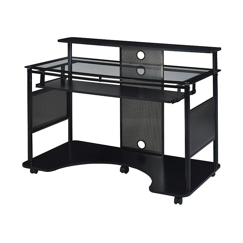 Z Line Designs Mobile Workstation Desk Black 218462