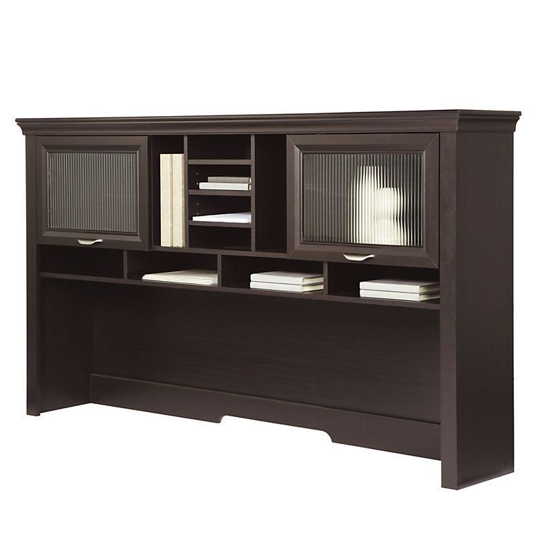 realspace magellan performance collection l desk hutch espresso 956652 956643 desks tables