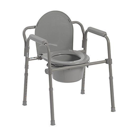 Bedside Commode Folding Toilet Chair Seat Medical Steel Portable Frame Potty Other