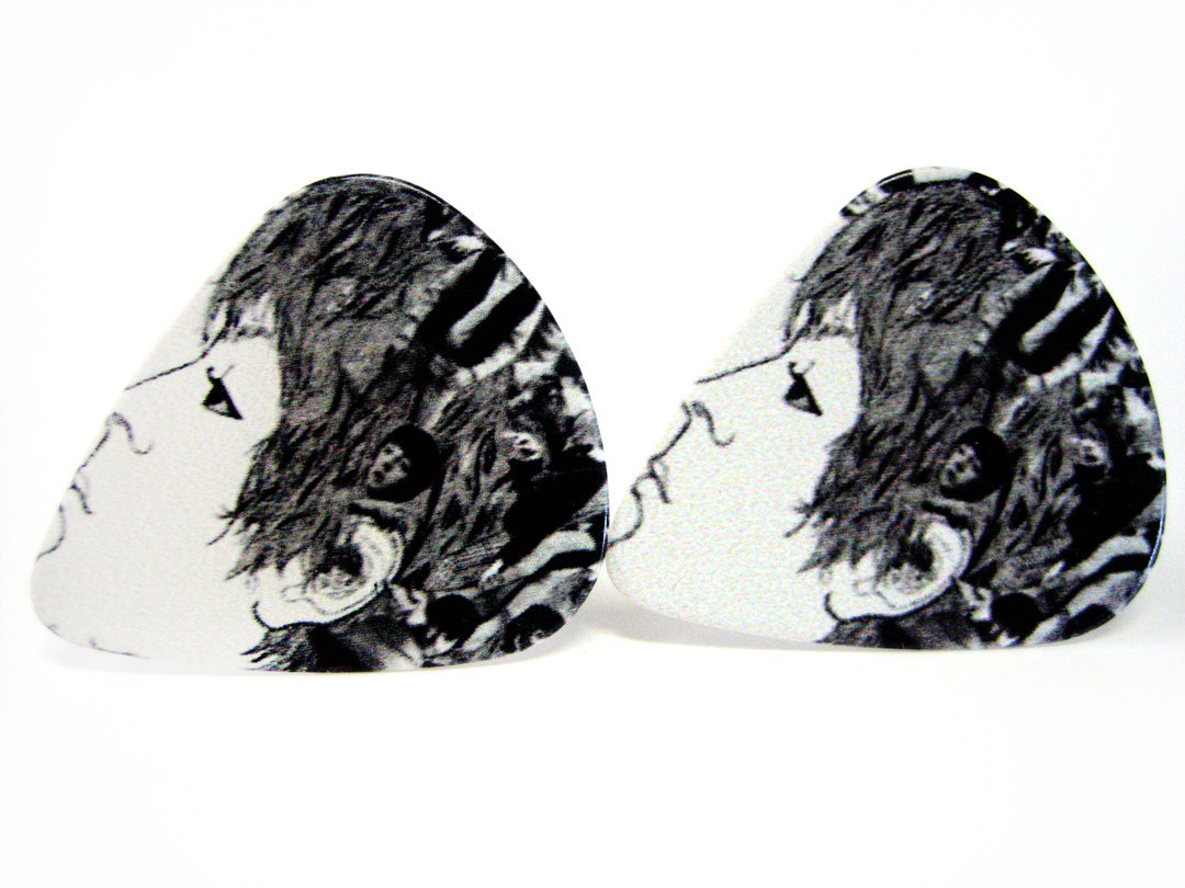 Beatles Guitar Pick Cufflinks V5