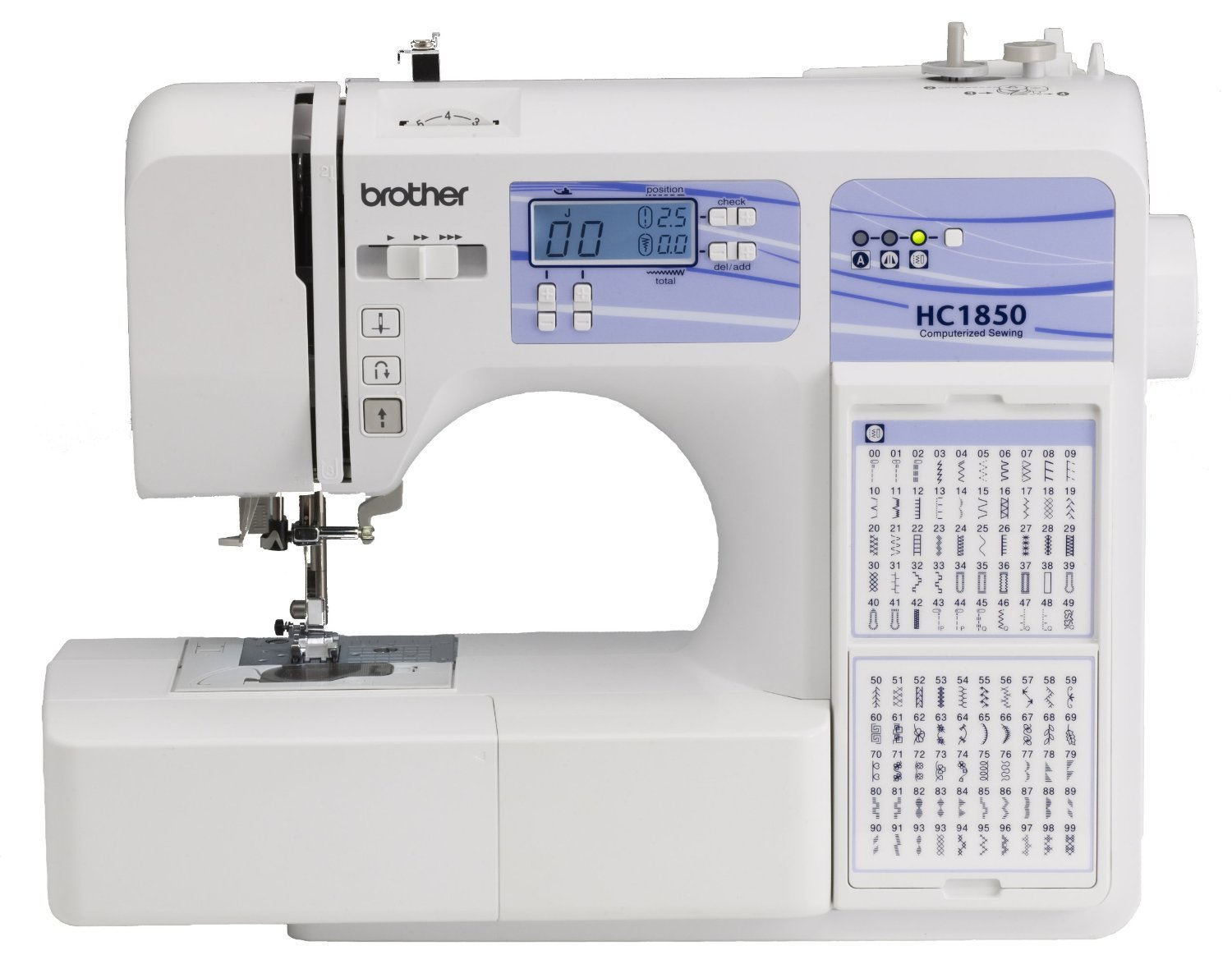 quilting stitches on sewing machine