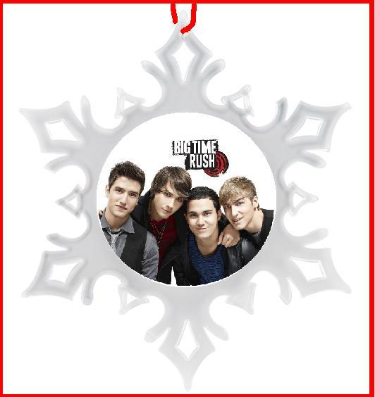 BIG TIME RUSH CHRISTMAS ORNAMENT - SNOWFLAKE ORNAMENT - X-MA