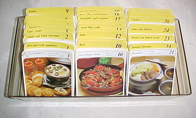 My Great Recipes Cards Collection by Mary Masters;766+  Recipe Cards in Box,1984