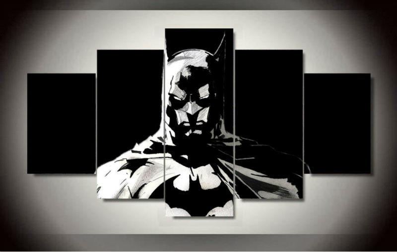 Batman 5 Panels Wall Art Canvas Print Paintings Large