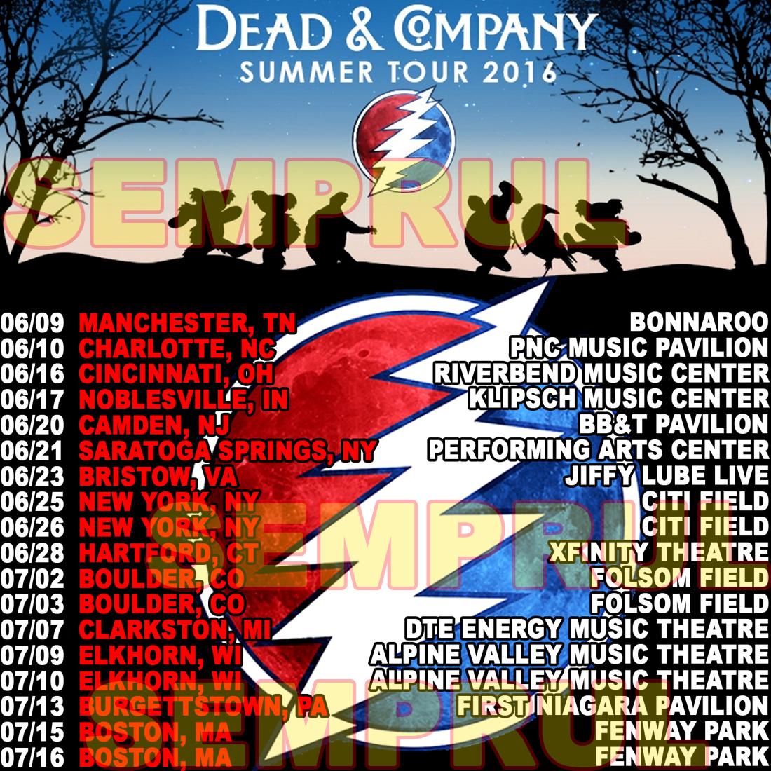 Dead Company Tour Dates