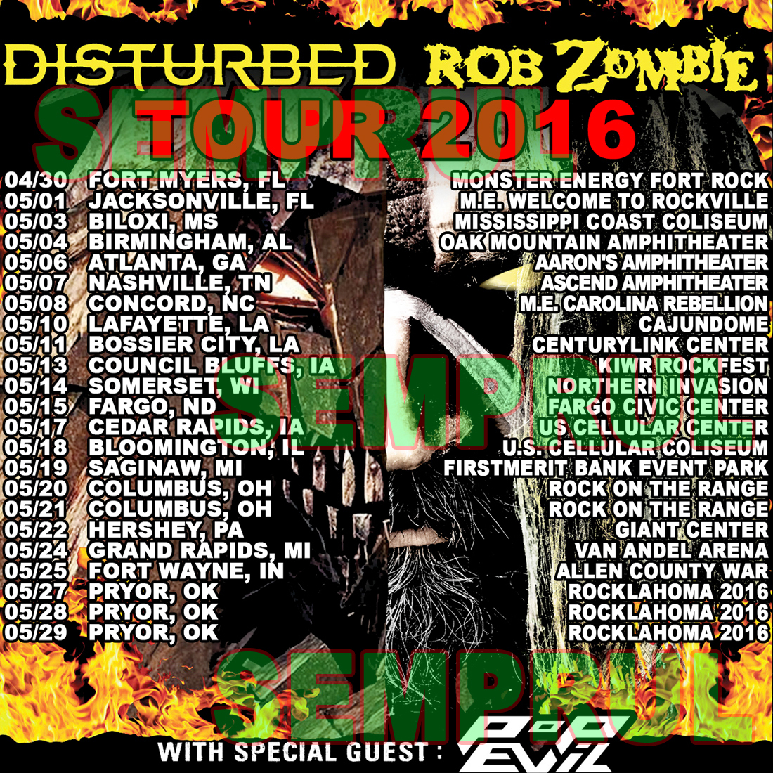 ROB ZOMBIE & KORN Announce Night Of The Living Dreads Tour 2013 ...