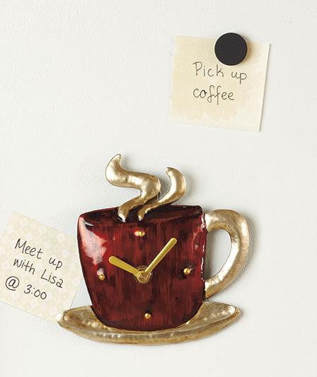 Magnetic Coffee Mug Kitchen Clock 5 5