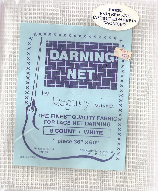 "Regency Mills Darning Net 6 Count White 36"" x 60"" Unopened Original Package"
