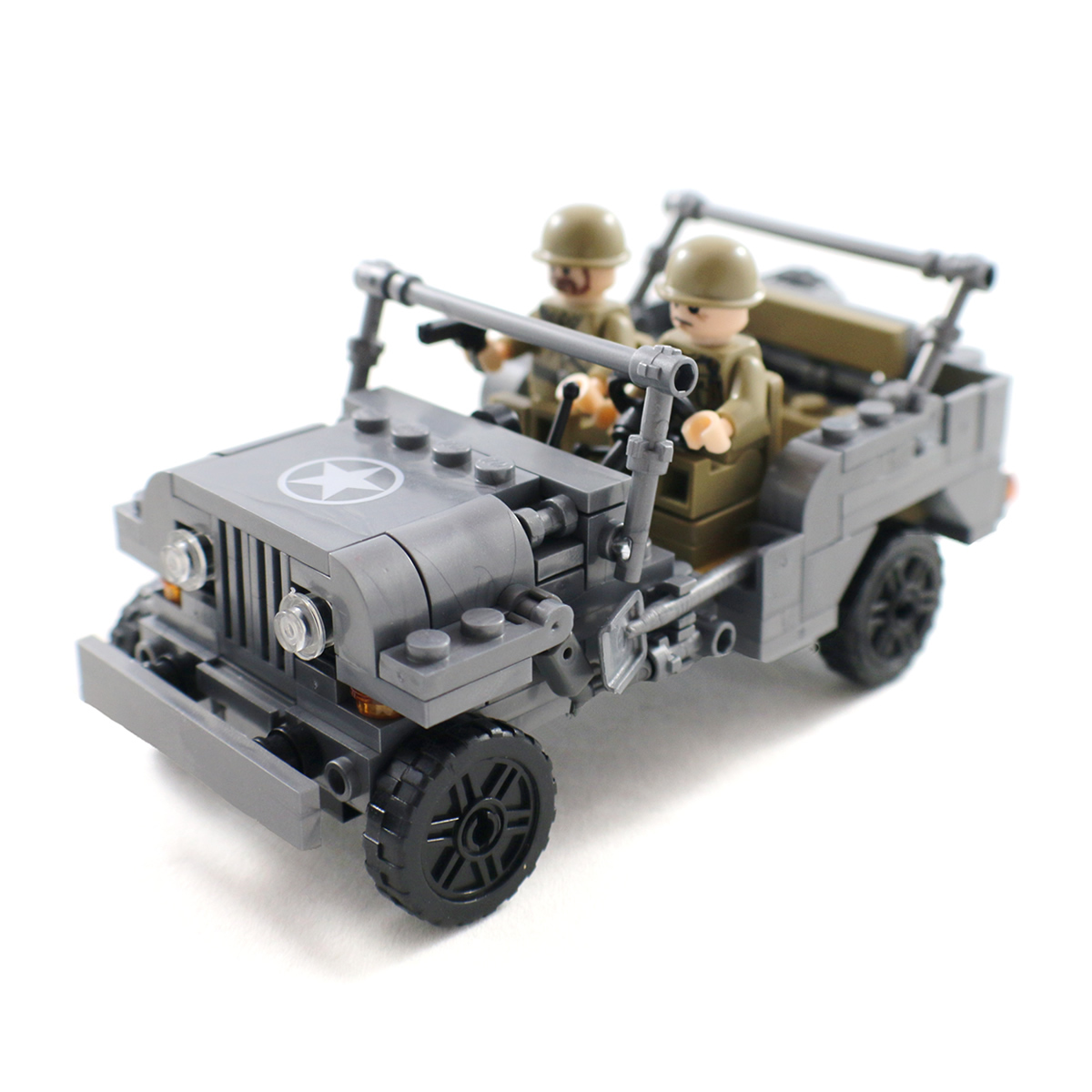 WW2 US Army Jeep With Soldier Minifigures