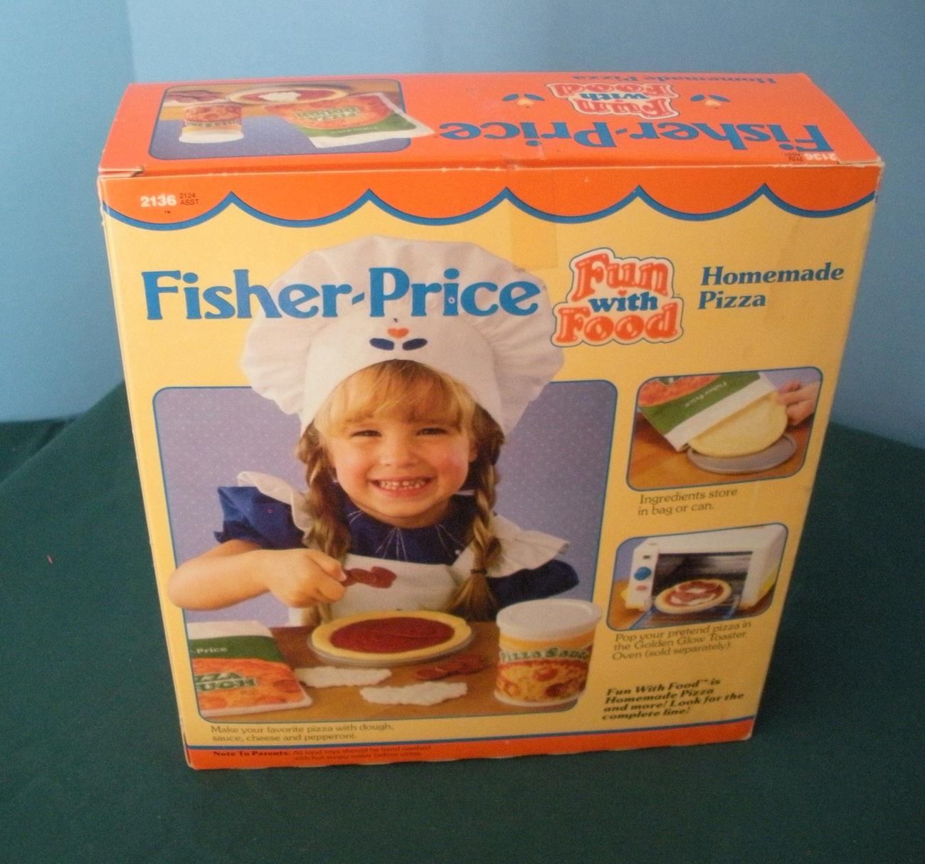 Vintage fisher price fun with food 2136 homemade pizza - Cuisine bilingue fisher price ...