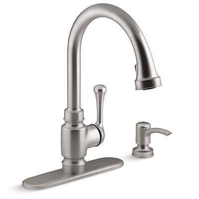 Kohler Stainless Steel Kitchen Faucets : ... -SD-VS Pull Down Sprayer Stainless Steel Kitchen Faucet - Faucets