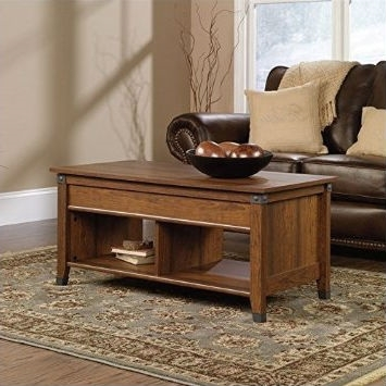 Lift top coffee table in cherry wood finish tables
