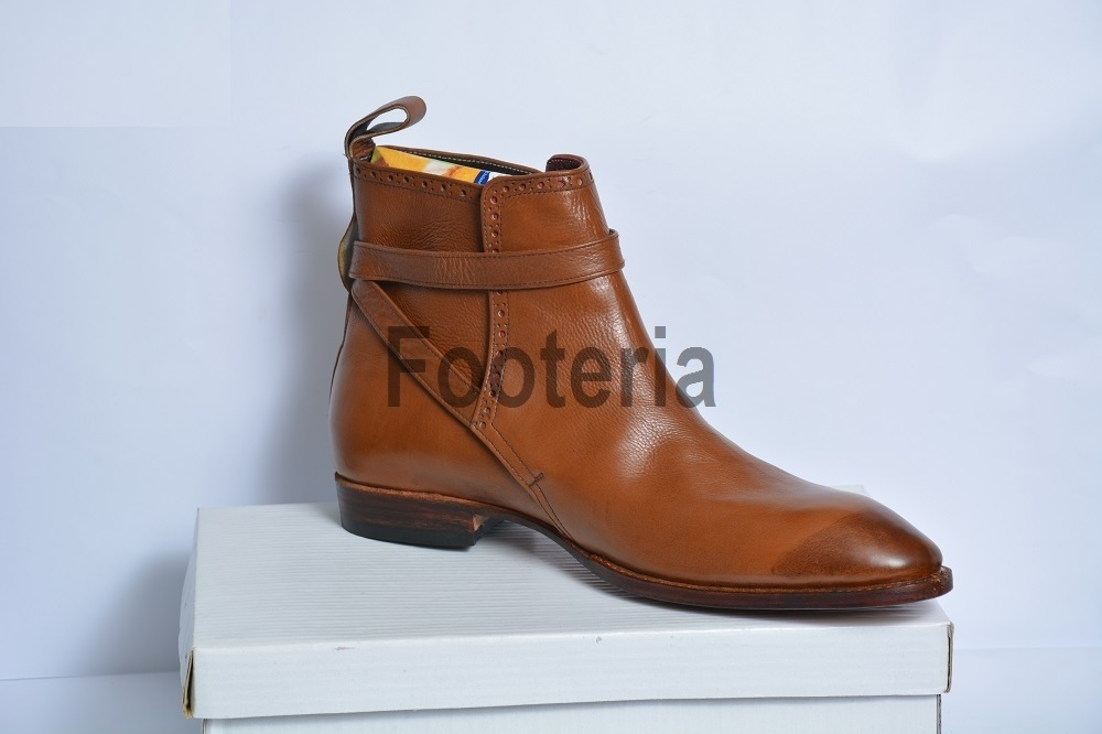 handmade brown jodhpur boots leather boot for