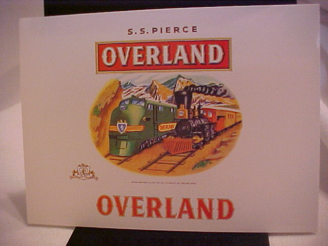 S.S. PIERCE OVERLAND Cigar Box Label
