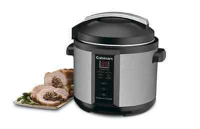 Electric Pressure Cooker Cuisinart 6 Quart 1000 Watt Digital Timer Non Stick Pot Cookers