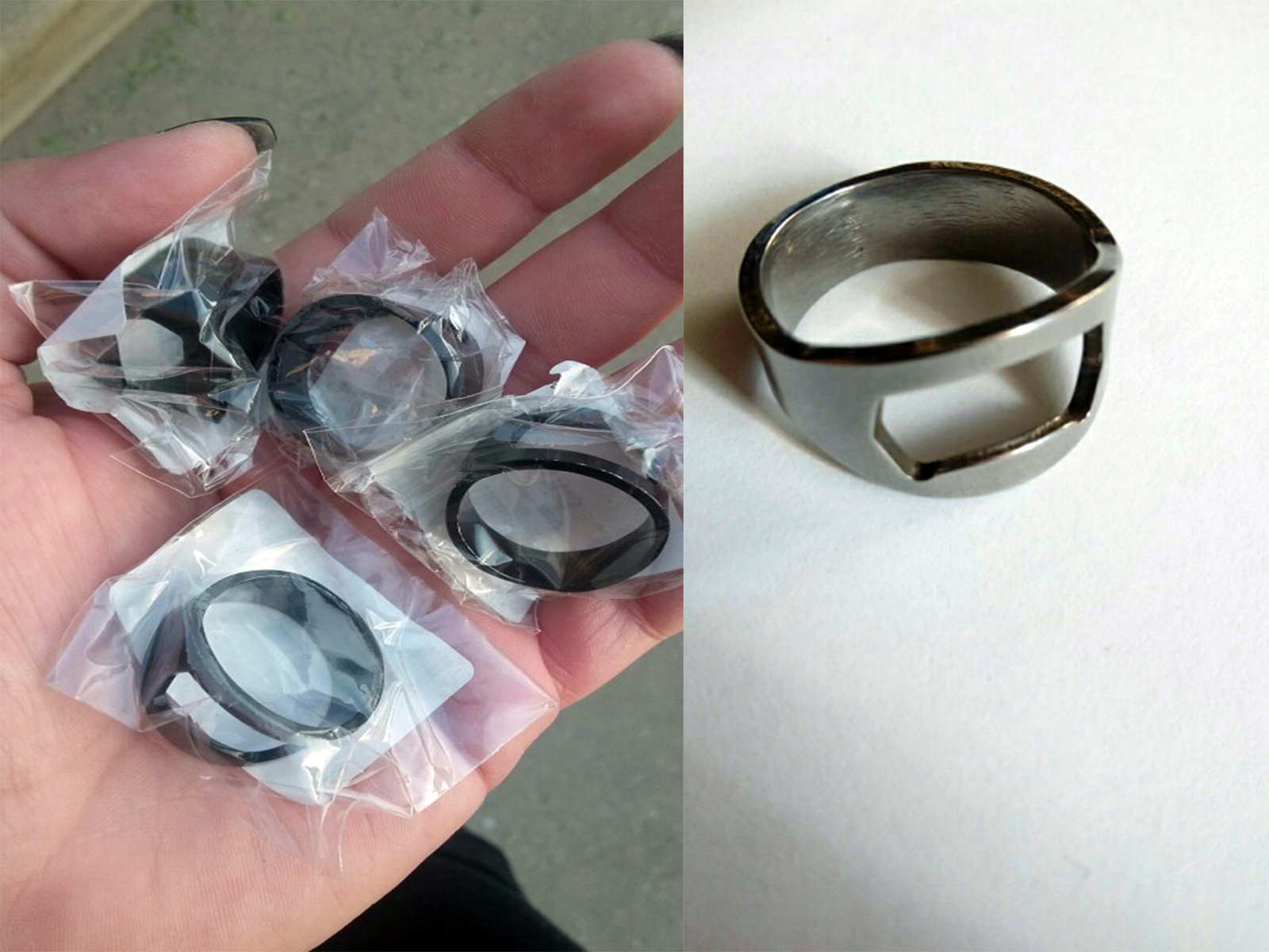 ring beer bottle opener stainless steel for tool kitchen cooking rings. Black Bedroom Furniture Sets. Home Design Ideas