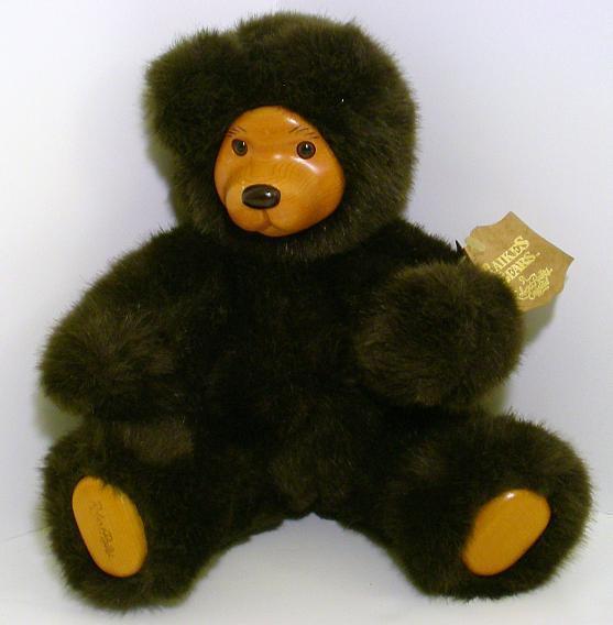 Robert Raikes Bears Cookie Dark Brown 1989