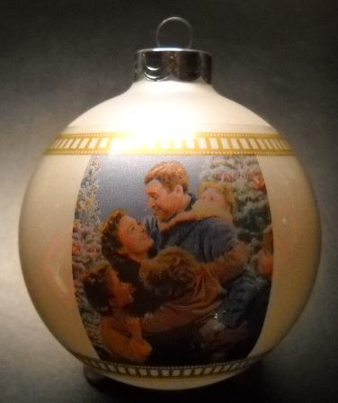 Blockbuster Christmas Ornament 1997 Its A Wonderful Life Glass Bulb Original Box Other
