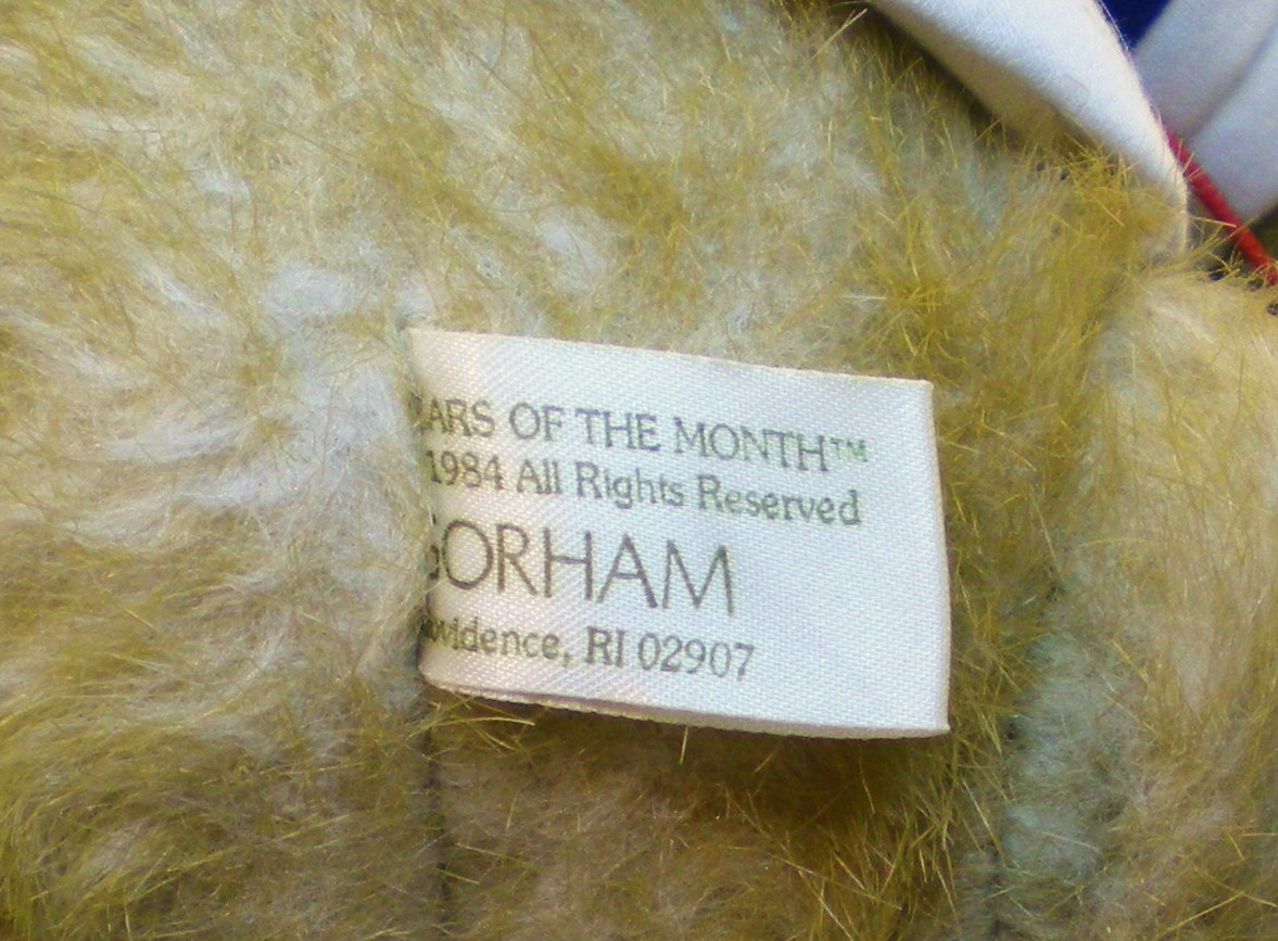 Image 5 of Gorham Teddy Bear of the Month Olympus Octobear 1984 for October
