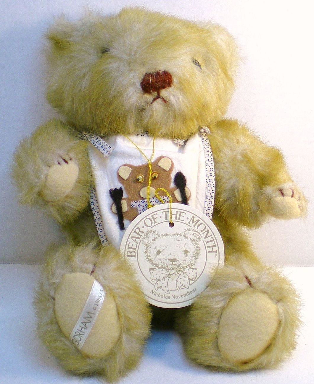 Gorham Teddy Bear of the Month Nicholas Novembear 1984 for November
