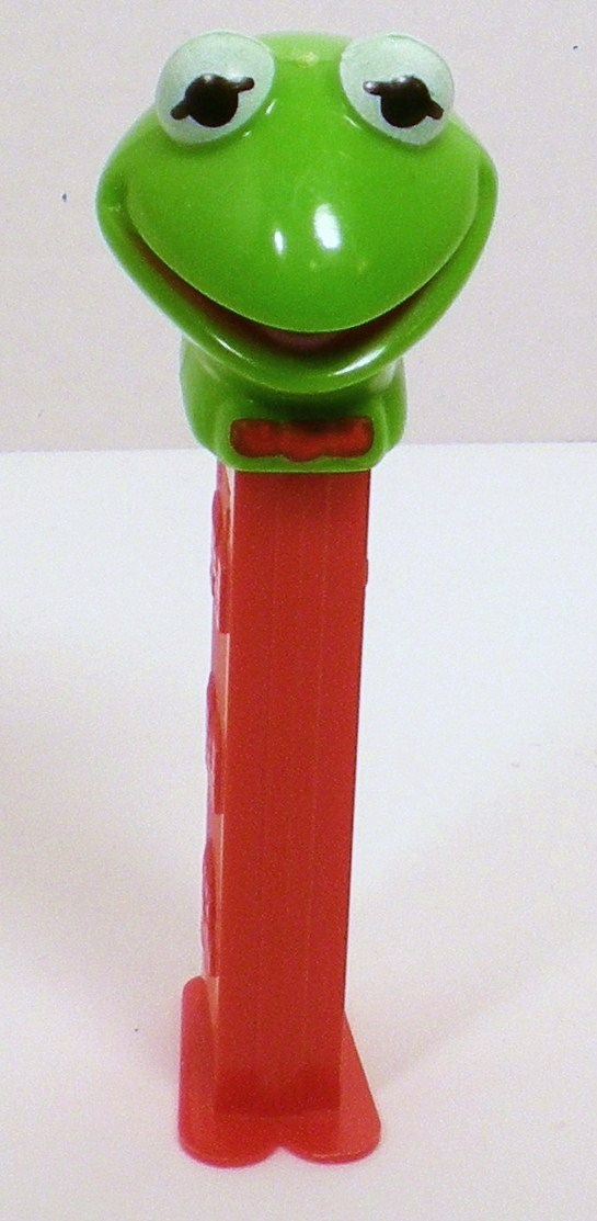 Kermit the Frog Pez Red bowtie 3.9 Hungary 1991 Discontinued