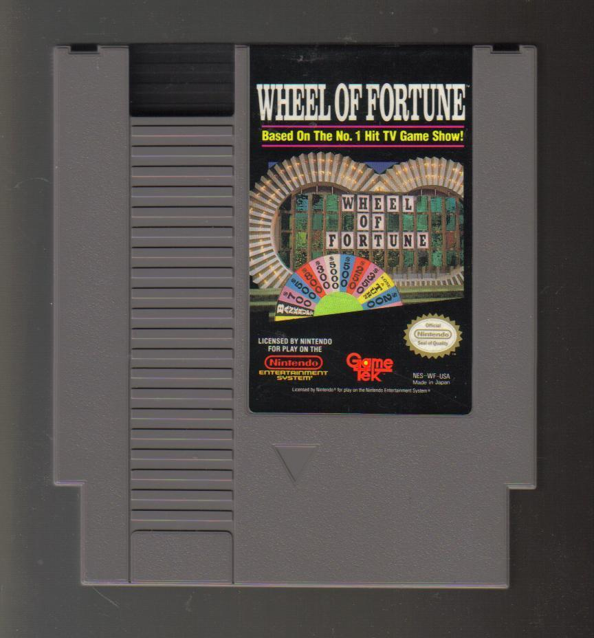 Nintendo NES Game Wheel of Fortune