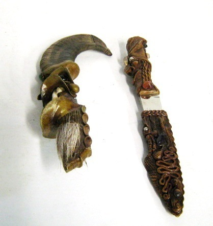 Tramontina Indian Caricature & Facusa Scary Teeth Knives