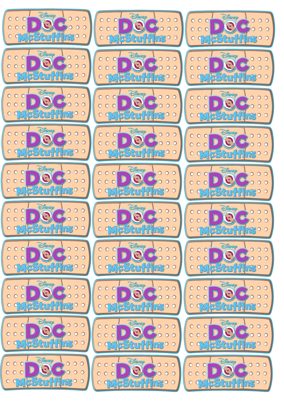 30 Doc McStuffins CUT and PEEL Band Aids, and 21 similar items