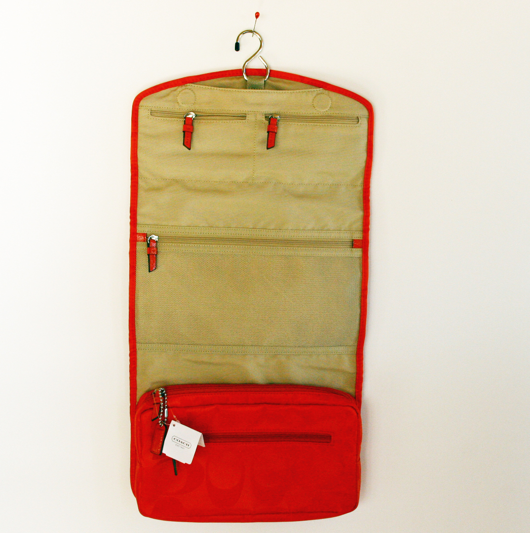 for sale coach signature travel bag hanging