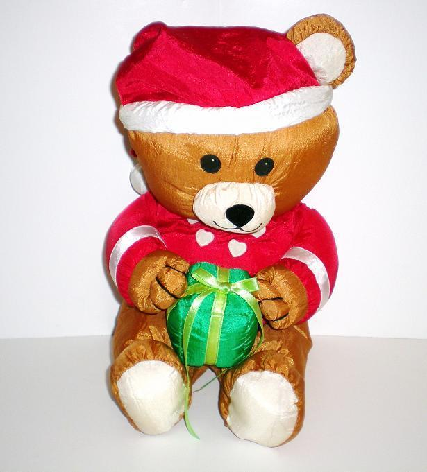 Santa Country Bear 1992 Fingerhut Holiday Teddy Bear