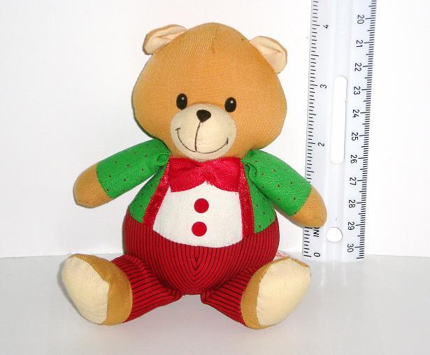 Image 0 of Russ Berrie Christmas Bear 1993 decoration