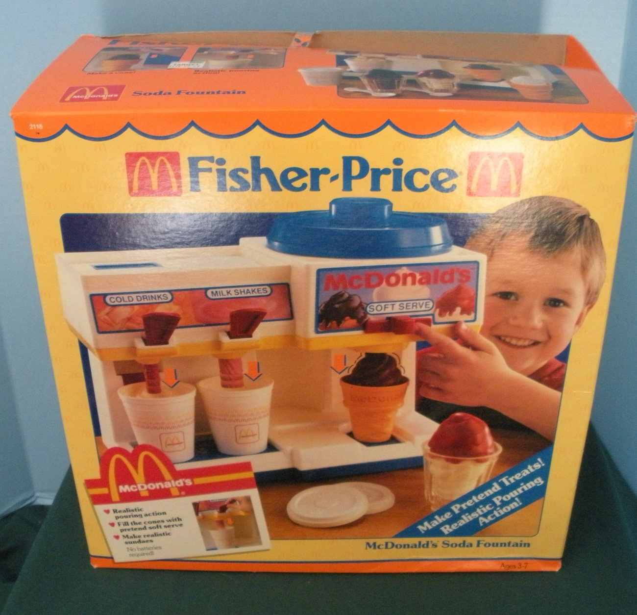 Fisher Price Play Kitchen: Vintage Fisher Price Fun With Food #2118 McDonald's Soda
