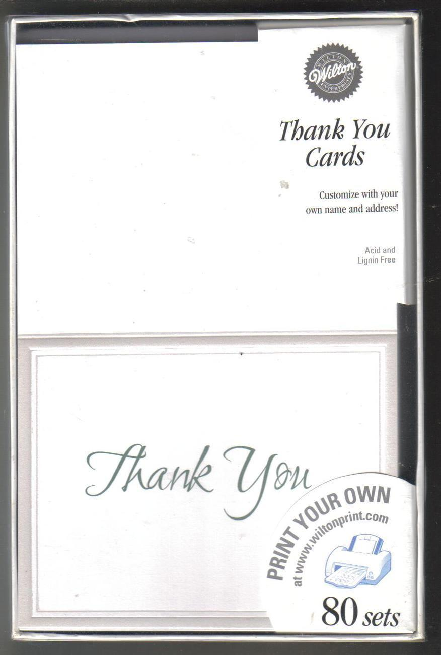 Wilton Keeping With Tradition Thank You Cards 80 Ct NIB