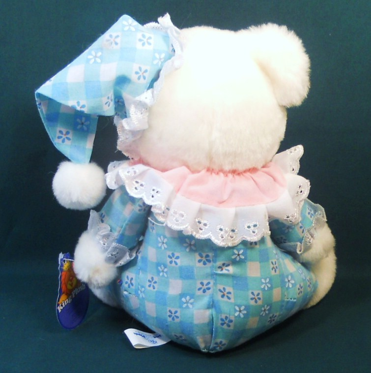 Image 2 of King Plush baby teddy bear cloth body white plush 2002