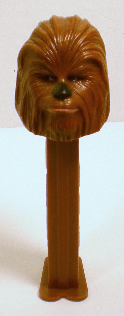 Star Wars Chewbacca Pez closed mouth marked 2004 LucasFilm Ltd