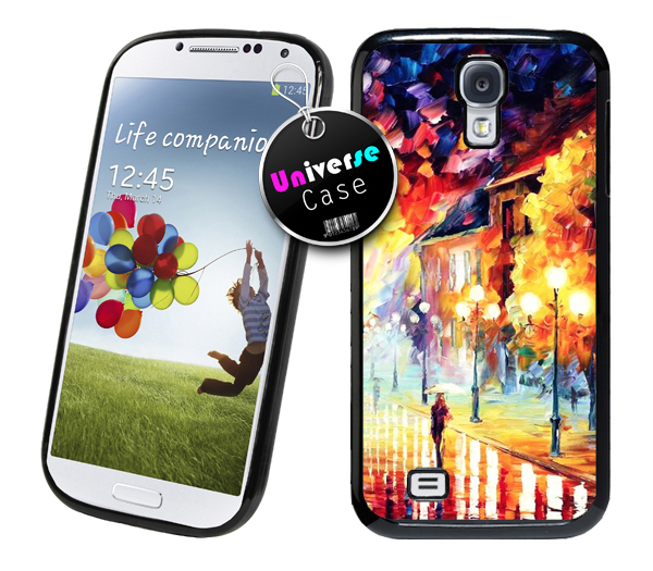 Rain road painting samsung galaxy s4 case hard plastic for Road case paint