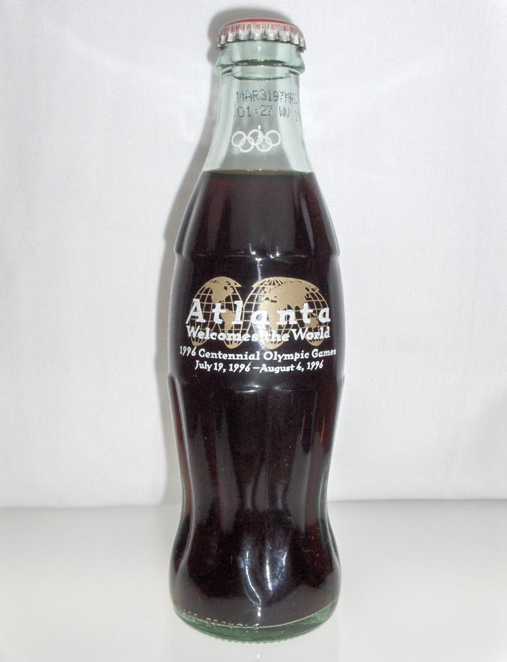 Atlanta 1996 Centennial Olympic Games Coca Cola coke Bottle