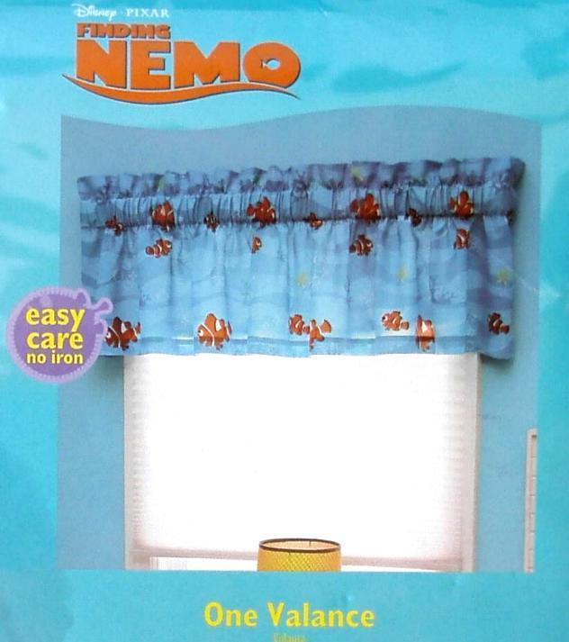 Disney Pixar Finding Nemo Blue Valance Window Treatment