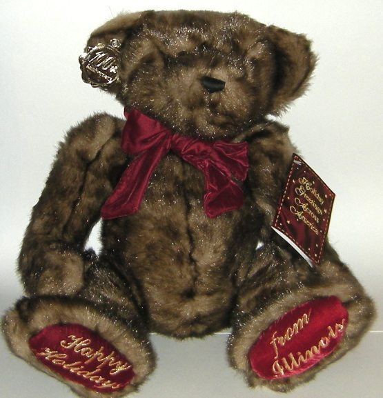 1/2 Price! Huge Plush 100th Anniversary Dan Dee Teddy Bear Illinois