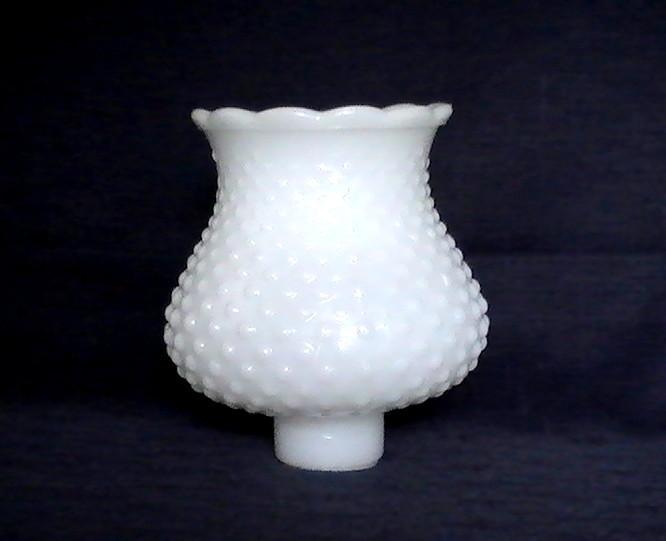 Milk Glass Shade Hobnail White 1 5 8 Inch Fitter X 5 25 X 3 75