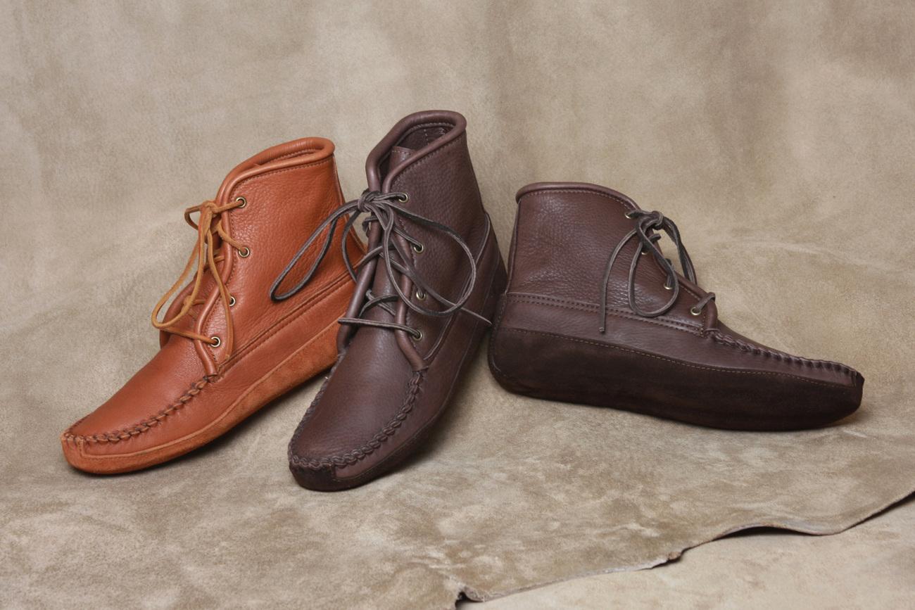 mens footwear deertan leather walking boots canoe soles