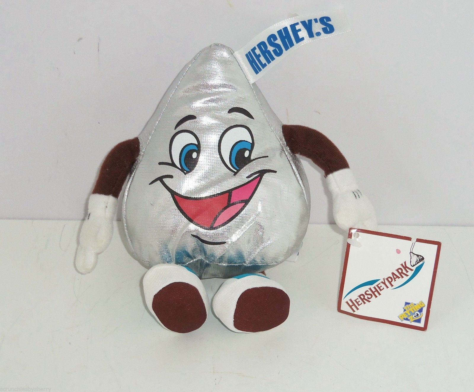 Hershey kiss plush toy collectible hershey park pa blue sneakers
