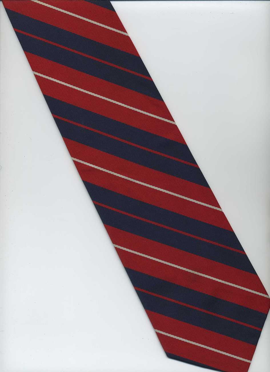 chadwick by wembley tie blue white striped tie
